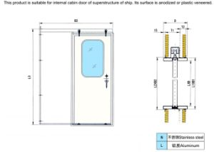 Single Handle Quick Open& Closing Steel Weather Tight Door with ABS Approval pictures & photos