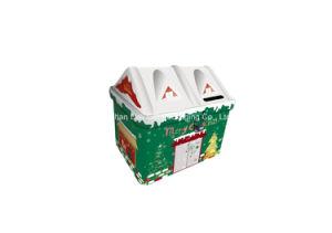 House Shape Saving Money Tin Box with Christmas Style (I001-V2) pictures & photos