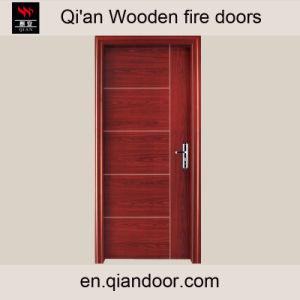 Zebrano Veneer Wooden Fire Door pictures & photos