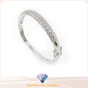 Hodium Plated Antique Fashion Jewelry Silver Bangle Bracelet (G41229) pictures & photos