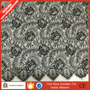 2016 Tailian Wholesale High Quality Black Woven Fabric Lace pictures & photos