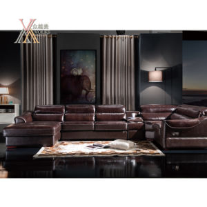 Leather Electric Sofa with Corner (830) pictures & photos