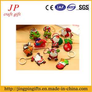 Promotional PVC Paint Key Ring, Father Christmas Key Chain (JK-001) pictures & photos
