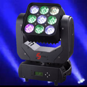 10W*9 LED Moving Head Matrix Light (HL-001MB) pictures & photos