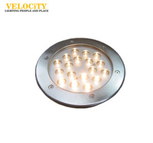 9PCS 24V IP68 Wall Mounted Stainless Steel RGB LED Underwater Pool Light pictures & photos