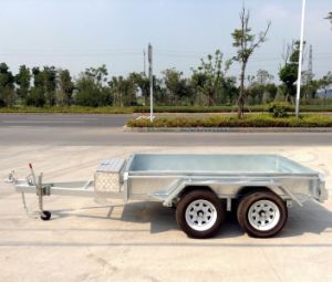 Utility Tandem Trailer /Daul Axle Heavy Duty Box Trailer (SWT-TT105) pictures & photos