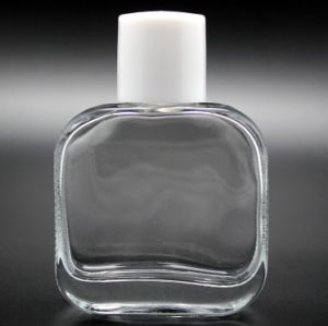 (LJ289) 55ml Flat Square Perfume Glass Bottle Perfumery Bottle