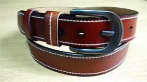 New Fashion Stitched-Edge Belt Men′s Leather Belt pictures & photos