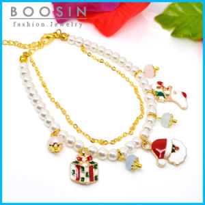 Christmas Theme Charm Pearl Bracelet #31466 pictures & photos
