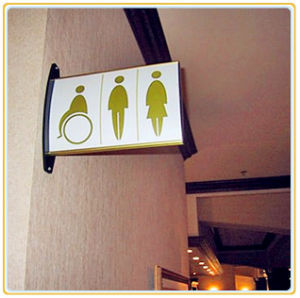 Aluminum Wall Mounted Directional Sign Board/Restroom Sign Bracket pictures & photos