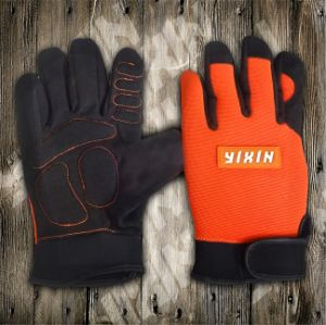 Synthetic Leather Glove-Micro Fiber Glove-Industrial Glove-Safety Glove-Work Glove-Mechanic Glove pictures & photos