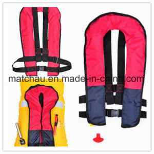 Adult Using Single Air Chamble Inflatable Life Jackets pictures & photos
