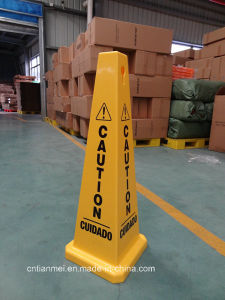 China Manufacturer L330*W330*H910mm PP Sign, Customized Traffic Cone pictures & photos