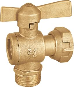Brass Water Meter Lead Valve with Butterfly Handle (a. 0121) pictures & photos