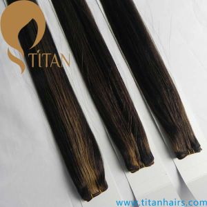 Piano Color 1b#/4#/27# Mixed Color Human Hair Weft pictures & photos