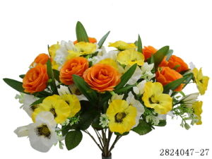 Artificial/Plastic/Silk Flower Rose, Orchid Bush (2824047-27) pictures & photos