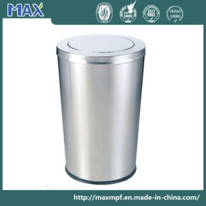 Cone Standing Trash Container Swing Lid Waste Bin pictures & photos