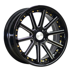17 Inch 5 Holes Alloy Wheels with Rivets pictures & photos