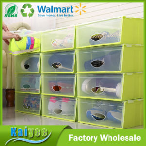 Wholesale Dustproof Multicolor PP Shoe Box Storage with Clear Lid pictures & photos