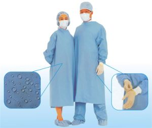 Disposable SMS Sterile Hospital Gown / Surgical Clothes/Isolation Gown pictures & photos
