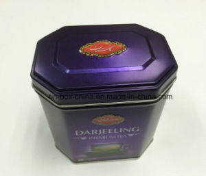 Hexagonal Custom Tea Tin Packaging Box for Food/Gift/Chocolate//Candy