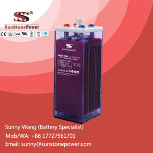 Deep Cycle Solar Battery 2volt 2000ah Vented Lead Acid Flooded OPzS Batteries pictures & photos