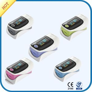 CE Approved Five Color Fingertip Pulse Oximeter pictures & photos