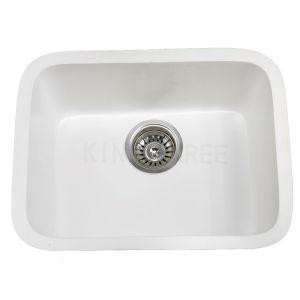 Undermount PMMA Resin Round White Stone Kitchen Sink