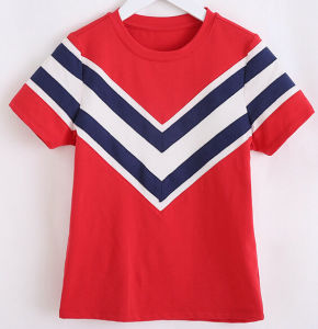Fashion Stripe Navy Girl T-Shirt pictures & photos