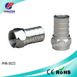 Rg59 RG6 Crimp F Connector for CATV Cable (pH3-1056) pictures & photos