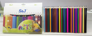 High Quality and Cheap Price Wholesale Wooden Color Pencil Set 36 for Kids
