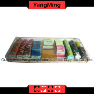 High - Grade Acrylic Handle Chip Tray with Lock (YM-CT09) pictures & photos