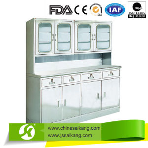 Hospital Instrument Treatment Cabinet with Four Drawers pictures & photos
