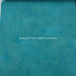 Aqua China Style PU Synthetic Leather for Shoes, Bags pictures & photos