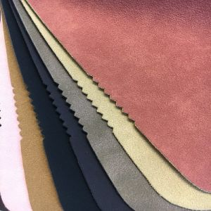 High Quality Buffed Leather Yangbuck PU Leather for Bags, Shoes (HS-D03) pictures & photos