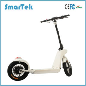 Smartek Folding Scooter Electric Ebike 14 Inch Wheel Size with LED Light Standing Smart Electric Scooter Patinete Electrico Folded Scooter S-005-2 pictures & photos