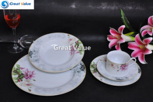 Deluxe English Style Porcelain Tableware for Hotal Banquet pictures & photos