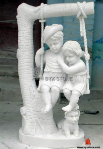White Marble Children Statue/Sculpture for Garden Decoration pictures & photos