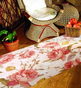 High Quality Micro-Suede Flower Design Floor Mat Carpet Area Rug pictures & photos
