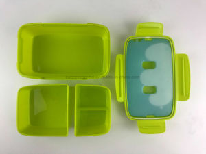 LFGB Certificated 3 in 1 Lunch Box with Ice Pack pictures & photos
