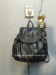 Fashion Style PU Backpack Bag, Wash Water Material Backpack Bag pictures & photos