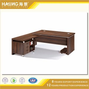 Modern Office Furniture MFC L-Shape Table in Wood pictures & photos