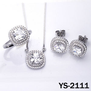 Diamond Jewelry High Quality 925 Silver Bridal CZ Sets pictures & photos