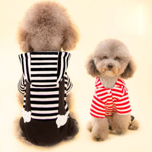 Stripes Hoodie Coat with Trousers Pet Sports Jumpsuit pictures & photos