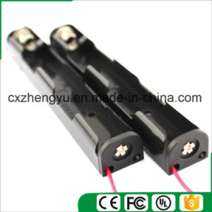 2AA Battery Holder with Red/Black Wire Leads (Longer Type) pictures & photos
