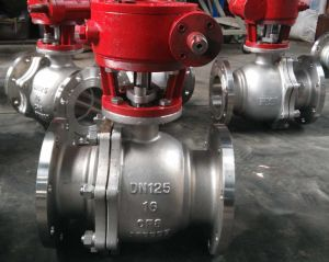 GB Pn16 Wcb Ball Valve with Worm Gear