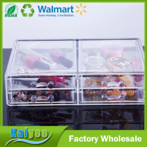 4 Drawers Clear Acrylic Cosmetic Jewelry Storage Box pictures & photos
