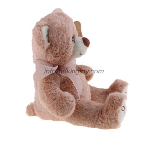 Pink Teddy Bear Plush Wearing Bow Cute Stuffed Animal Bear pictures & photos