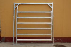 Oval Rail Galvanized Cattle Yard Panel pictures & photos
