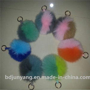 Fox Fur Pompoms for Bombers Slippers Keychain pictures & photos